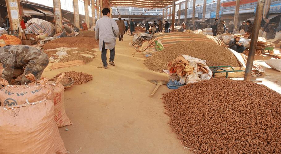 Chợ Tam thất ở châu Văn Sơn